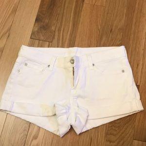 White 7ForAllMankind denim shorts